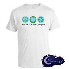 Peace Love & Recycle Adult Environment & Recycling T-Shirt