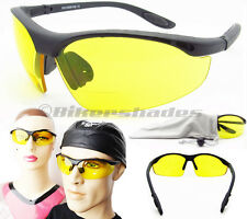 BIFOCAL NIGHT VISION Glasses Yellow Lens Motorcycle Driving Cycling Z87 Safety