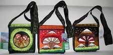 RISING INTERNATIONAL - NEPAL Hippie Handmade Cotton Crossbody Purse Hobo Bag