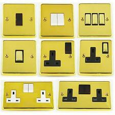 G&H Contour Polished Brass Light Switches & Sockets
