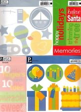 PEBBLES Assorted CARDSTOCK STICKER Sheets Choice SAMPLER & LABEL Holidays & more
