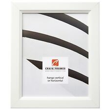 Craig Frames Mossehaus, Contemporary Satin White Picture Frame
