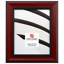 "Craig Frames Redcourt, 1.75"" Deep Cherry Red Solid Wood Picture Frame"