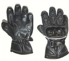Kids Motorcycle Scooter Quad Gloves Leather Hard Knuckles Childrens