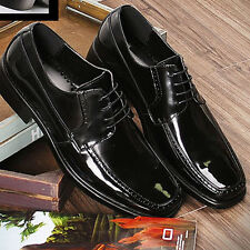 New Mens Dress Formal Casual Shoes Lace up Oxfords Leather Free Shoe Black