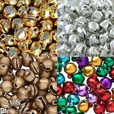 BELL JINGLE METAL choose color size CRAFT JEWELRY EMBELLISHMENT 100pk FREE SHIP
