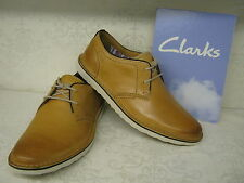 Clarks SALE Manor Hall Natural Leather Casual Lace Up Shoes