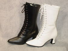 Victorian Old West Granny Grannie boots 6-12 Colors to choose White or black