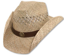 Bret Michaels Western Cowboy Straw Hat Star Concho Be a Rockstar New with tags