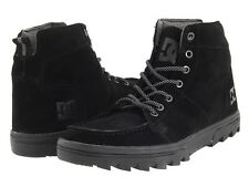 DC WOODLAND Mens Boots / Shoes (NEW) $90 Winter Rugged Trail BLACK PREMIUM SUEDE