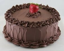 """10"""" Chocolate Frosted Cake ~ Realistic Fake Food ~ Fun Party Faux Dessert !"""
