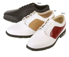 Nike Womens Verdana Blucher II Saddle Leather Golf Shoes New! White/RubyRed New!