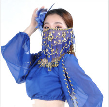 New Shinning Sequins Face Veil handmade 8 color Belly Dance Costumes