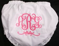 Personalized Monogrammed Diaper Cover Bloomer 3 Initial