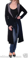 Bella B wear sz S-M & M-L (8-10 & 10-12) long black cardigan jacket NWT RRP $149