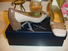 Anne Klein AK7Kadenza Kadenza Taupe Brown Fabric Upper Nice! 6.5 $89 Quality!