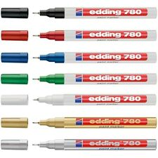 EDDING 780 PAINT MARKER PEN EXTRA FINE LOW ODOUR - 8 COLOURS AVAILABLE
