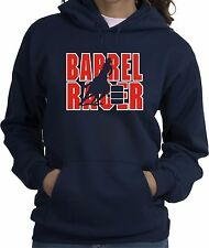 Barrel Racer Horse and Rider Hooded Sweatshirt Multiple Colors & Sizes