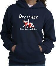 Dressage Pas de Deux Horse & Rider Hooded Sweatshirt Multiple Colors & Sizes