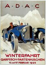 Vintage Old Transport Poster ADAC Print Art A4 A3 A2 A1