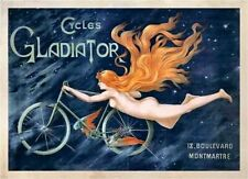Vintage Old Transport Poster Bicycles 2 Print Art A4 A3 A2 A1