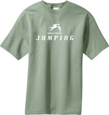 What a Feeling Jumping Horse & Rider T-Shirt Multiple Colors & Sizes