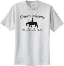 Western Pleasure Keep it on the Rail Horse & Rider T-Shirt Multiple Color & Size