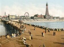 Blackpool 3 Seaside Scenes Print Poster A4 A3 A2 A1