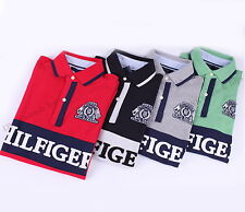 NEW TOMMY HILFIGER MENS MESH POLO RUGBY LOGO SHIRT SHORT SLEEVE