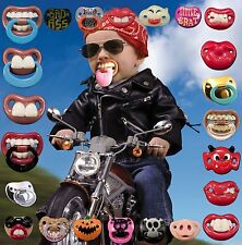 Billy Bob Pacifiers Dummy Baby Teether Pacy Orthodontic Nipples Lips Novelty