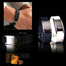 New Power Ionics Titanium Magnetic 2000 Ions Bracelet Energy Wristband w/ Box