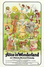 ALICE IN WONDERLAND B-MOVIE REPRODUCTION ART PRINT A4 A3 A2 A1