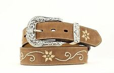 Nocona Women's Embroidered Leather Western Belt