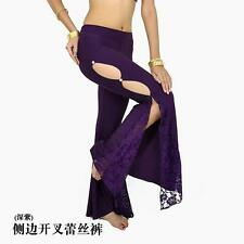 8 color New Sexy Split Side Lace Pants Belly Dance Costumes Yoga Clothing