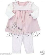 2 Piece Baby Girls Cotton Bunny Top & Leggings Outfit Tiny 1 3 3-6 6-9 9-12 Mth