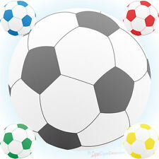 FOOTBALLS WALL STICKER PACK black blue red green yellow boys mixed bedroom decal