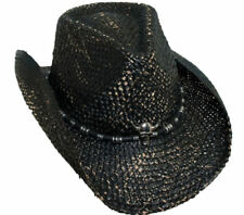 BRETT MICHAELS BLACK WESTERN COWBOY HAT SKULL CONCH MUSICIANS ROCK OUT ON STAGE!
