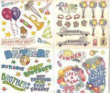 FRANCES MEYER  Sticker Sheets Assorted HOLIDAY TRAVEL FAMILY SPORTS ROSES Choice