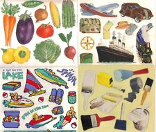 ASSORTED Sticker Sheets Frances Meyer VEGETABLES WRESTLING WET PAINT TRAVEL