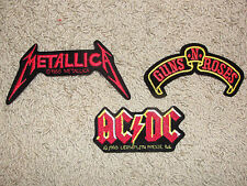 Metallica Guns n Roses AC / DC Vest Patch You Pick the Style Rare Hard to Find