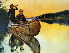 Philip R Goodwin Call of the Moose  - Stretched Giclee Canvas