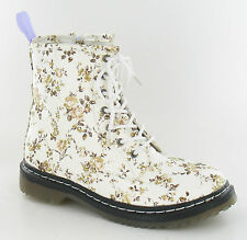 H5009 Girls Junior Floral Ankle Boots