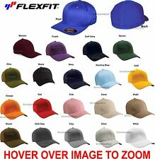 Flexfit Baseball Hat 6277 Structured Twill FITTED Sport Cap Wooly Size S/M L/XL