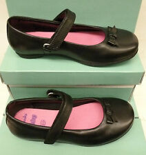 "SALE:Clarks Infant Girls Black Leather Shoes ""DAISY MEADOW""  ""F""& ""G""-Fitting"