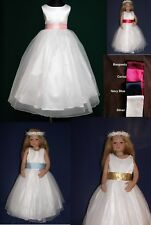 FreePost Cindy Flowergirl  Girl Communion Bridesmaid Wedding Dress 1-10Yrs