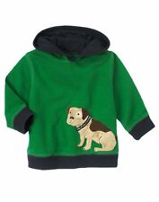 Gymboree Prepster Pup 12-24 mo Green Puppy Hoodie Dog Jacket Boys Twins NEW NWT