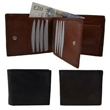 New Mens/Gents Stylish Leather Wallet Top Quality 3 Colours Black/Brown/MidBrown