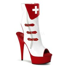 Sexy Nurse Halloween Medical Role Play Halloween Costume Ankle Boots Heels Shoes
