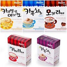 MAXIM CAFE Cappuccino Mocha Latte Macchiato ~ INSTANT COFFEE MIX STICKS KOREAN