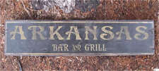 ARKANSAS BAR & GRILL -  Rustic Painted Wooden Sign